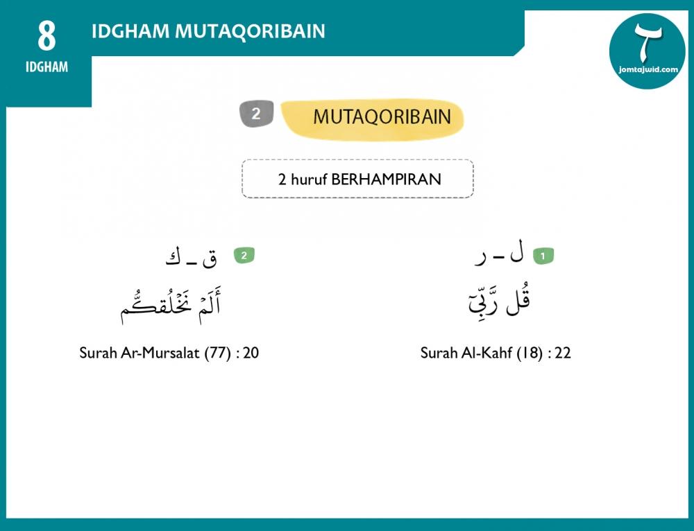 Idgham Mutaqoribain
