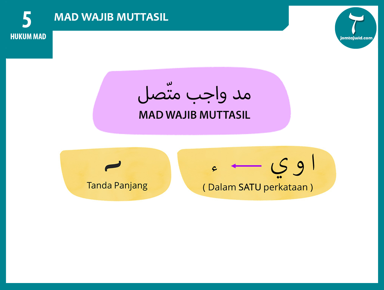JomTajwid - Hukum mad wajib muttasil 3 (Feature) new3